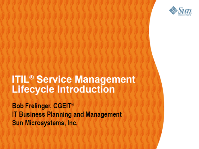 ITIL® Service Management Lifecycle Introduction