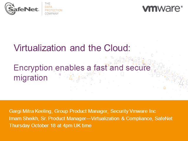 Virtualization and the Cloud: Encryption Enables a Fast and Secure Migration