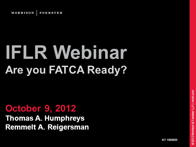 Are you FATCA ready?