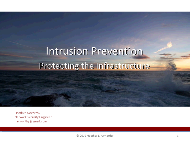 The Ins and Outs of Intrusion Prevention