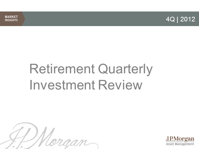 J.P. Morgan 4Q Quarterly Investment Review
