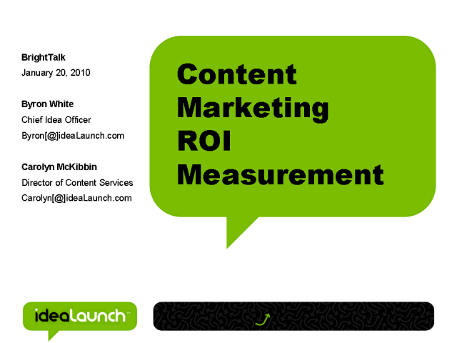 Tracking Content ROI