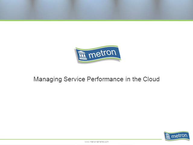 Managing Service Performance in the Cloud