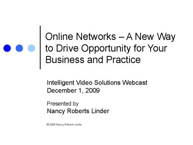 Online Networks: Drive Opportunity to Your Business