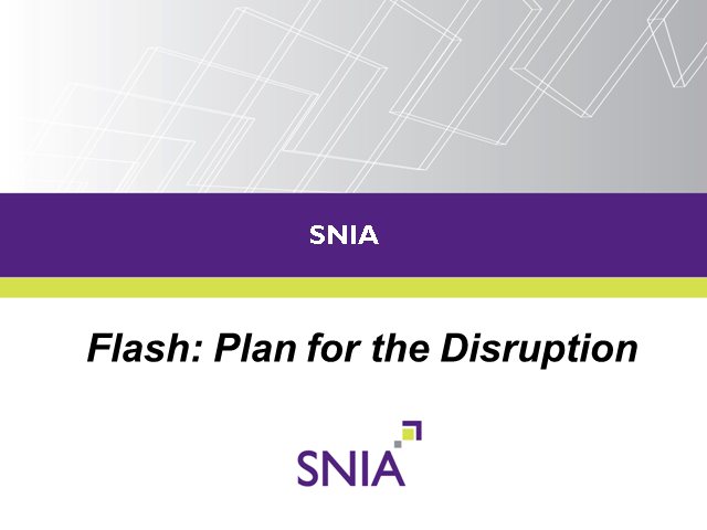 LIVE WEBCAST: Flash – Plan for the Disruption