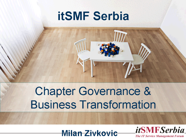 itSMF Serbia - Chapter Governance and Business Transformation