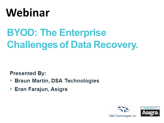 BYOD: The Enterprise Challenges for Data Recovery