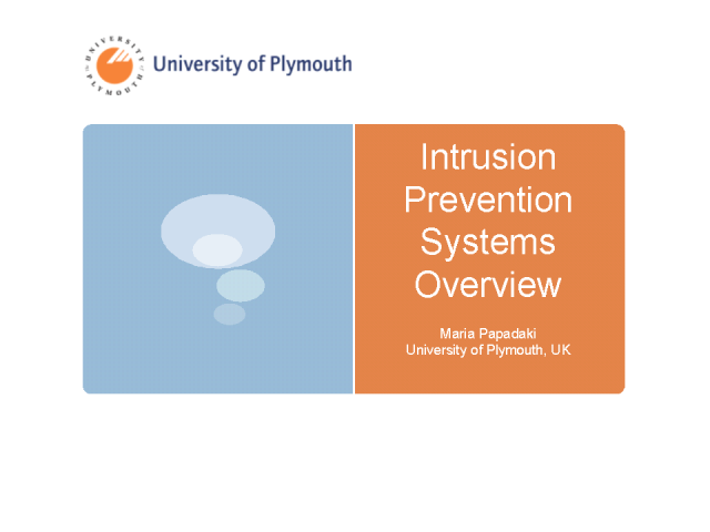 Intrusion Prevention Systems Overview
