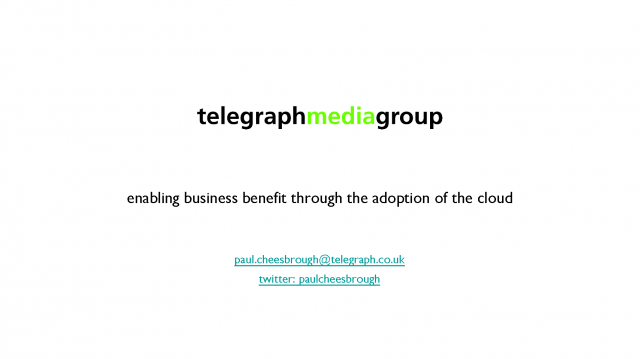 Enabling Business Benefit through the Adoption of the Cloud