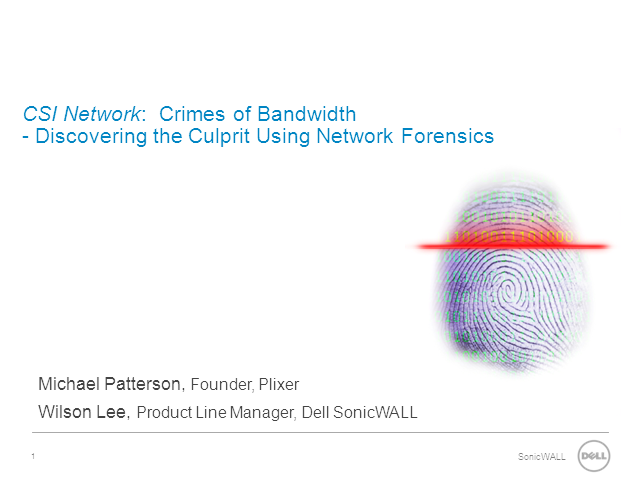 CSI Network:  Crimes of Bandwidth - Discovering the Culprit Using Network Forens
