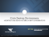 Architecture, Sizing and Deployment Considerations for a Citrix Desktop Enviro
