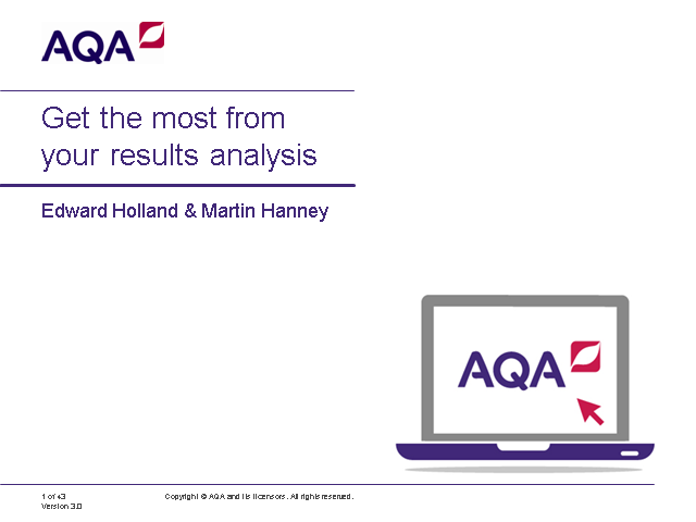 Get the most from your results analysis