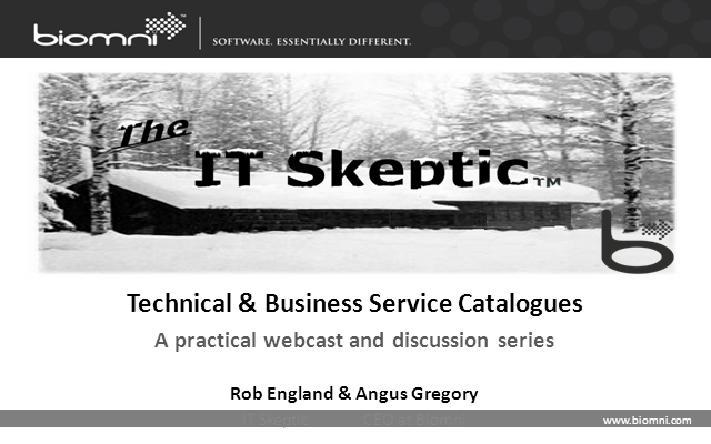 Service Catalogue - the Technical vs. Business debate
