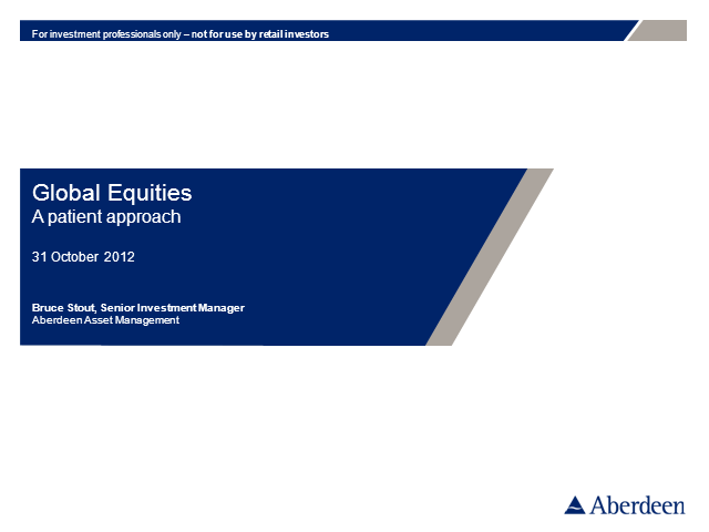 Global Equities Q3 2012 Update