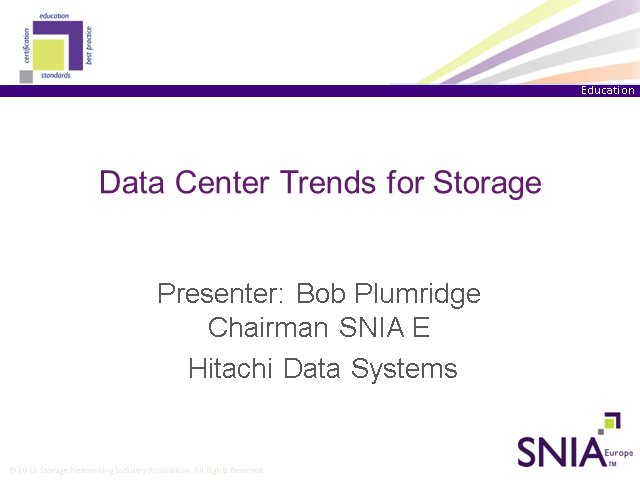 LIVE WEBCAST: Data Centre Storage Trends