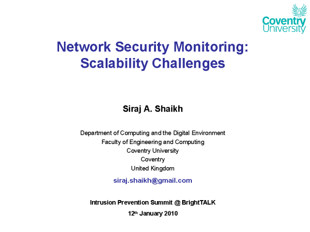 Network Security Monitoring: Scalability Challenges