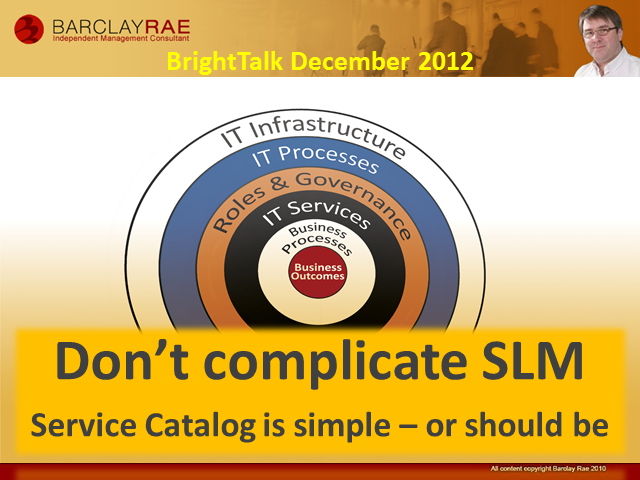 Don't Complicate SLM. Service Catalog is SImple...or Should Be