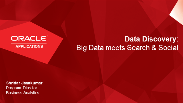 Data Discovery: Big Data meets Search & Social