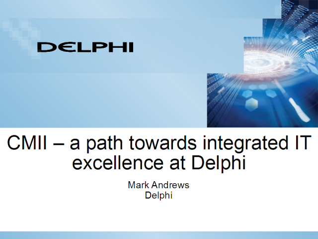 CMII - A Path Towards Integrated IT Excellence