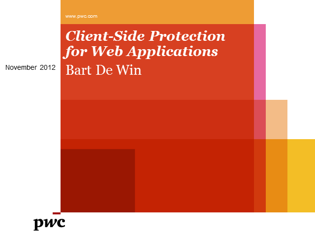 Client-Side Protection for Web Applications