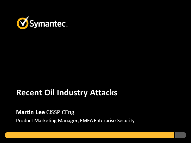 Analysis of the Recent Oil Industry Attacks- Version 2!