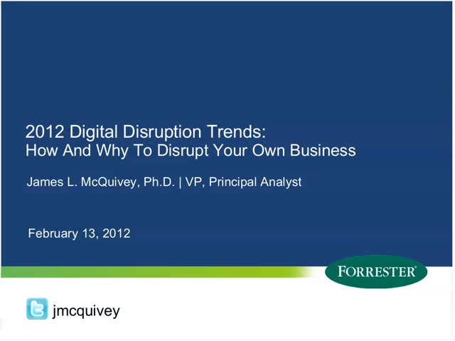 Digital Disruption Trends: How and Why to Disrupt Your Own Business