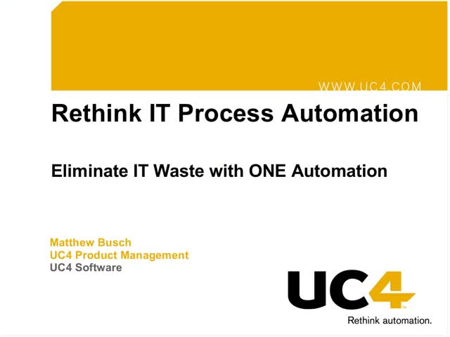 Eliminate IT Waste with ONE Automation
