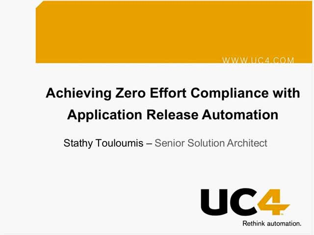 Achieving Zero Effort Compliance with Application Release Automation