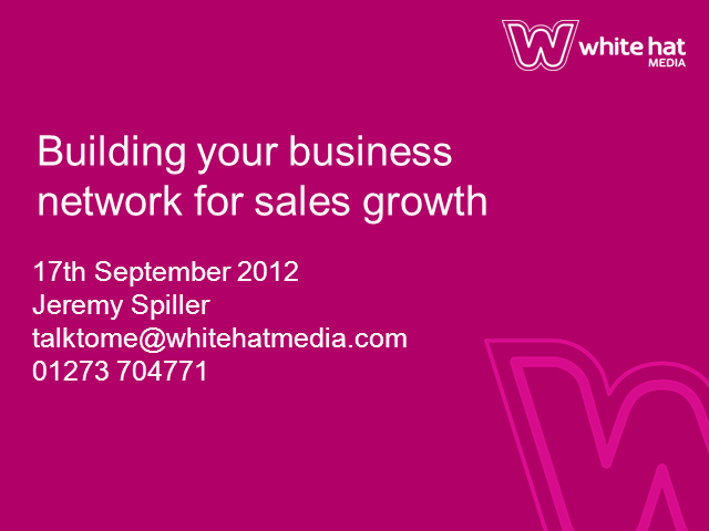 Build Your Business Networks Online for Sales Growth
