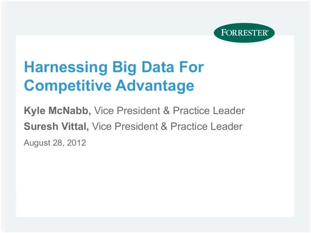 Harnessing Big Data for Competitive Advantage