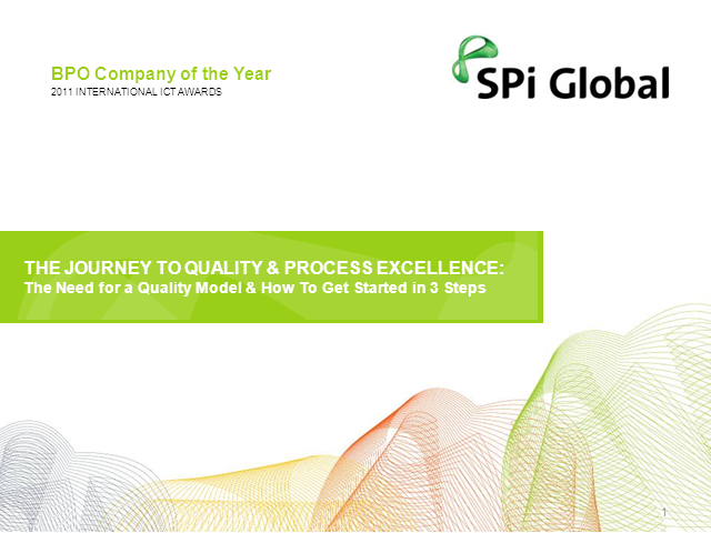 The Journey to Quality& Process Excellence