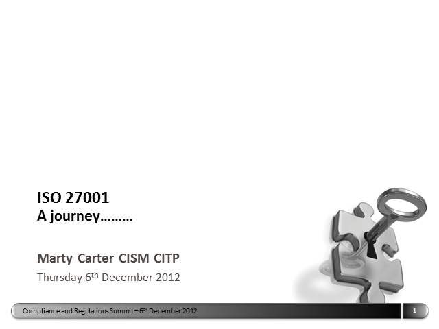 ISO 27001 - A Journey…