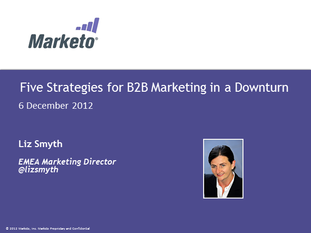Five strategies for B2B marketing in a downturn