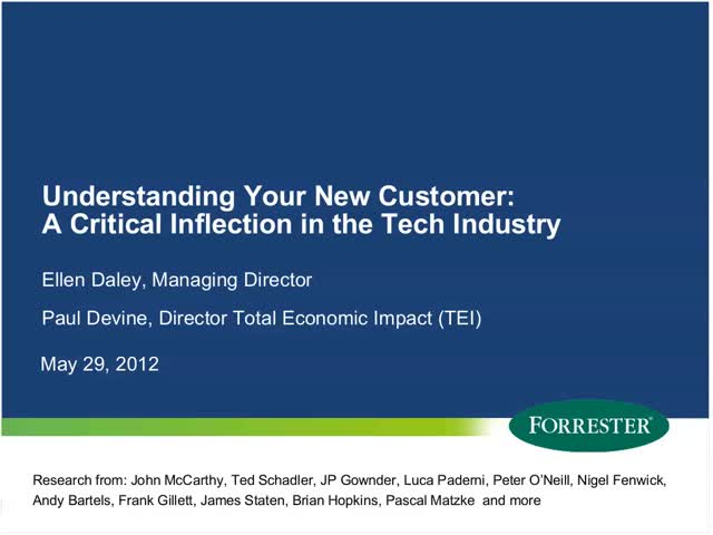 Understanding Your New Customer - A Critical Inflection in the Tech Industry