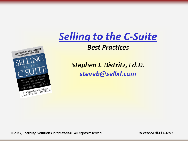 Selling to the C-Suite - Best Practices