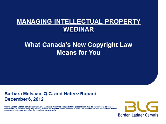 What Canada's new copyright law means for you