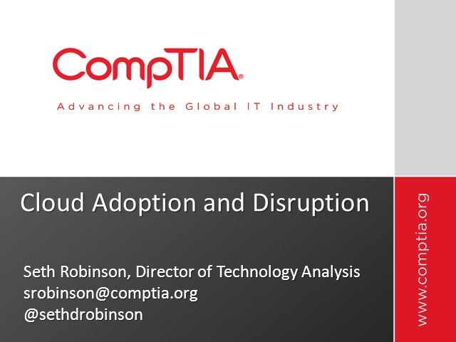 Cloud Adoption and Disruption
