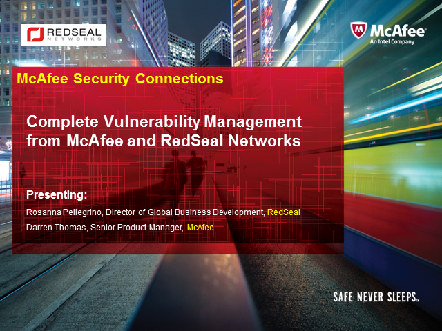Complete Vulnerability Management from McAfee and RedSeal