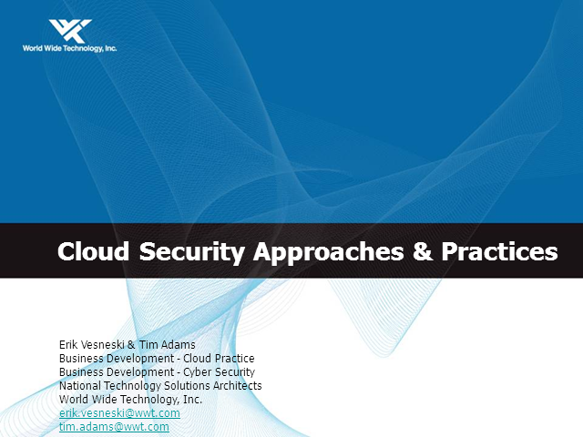 Already in the Cloud? It Isn't Too Late to Secure It