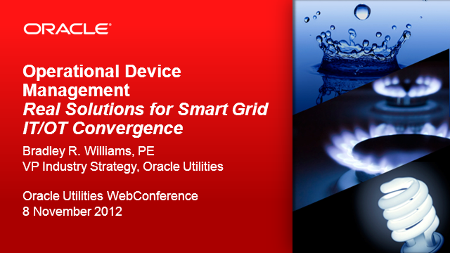 Effective Real -Time Management of Smart Grid Devices