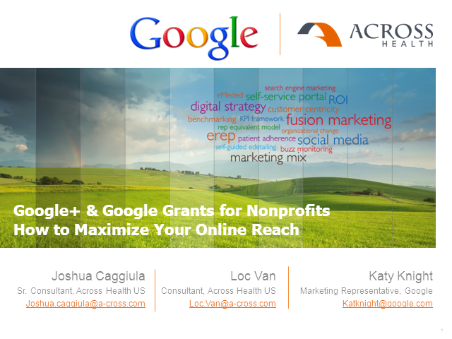 Google+ & Google Grants for Nonprofits - How to Maximize Your Online Reach