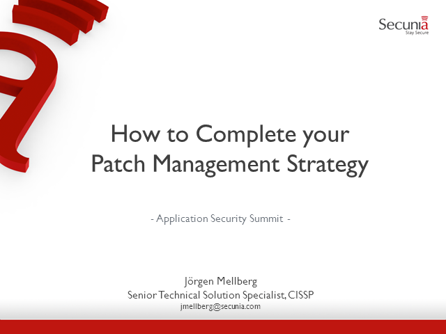 How To Complete Your Patch Management Strategy