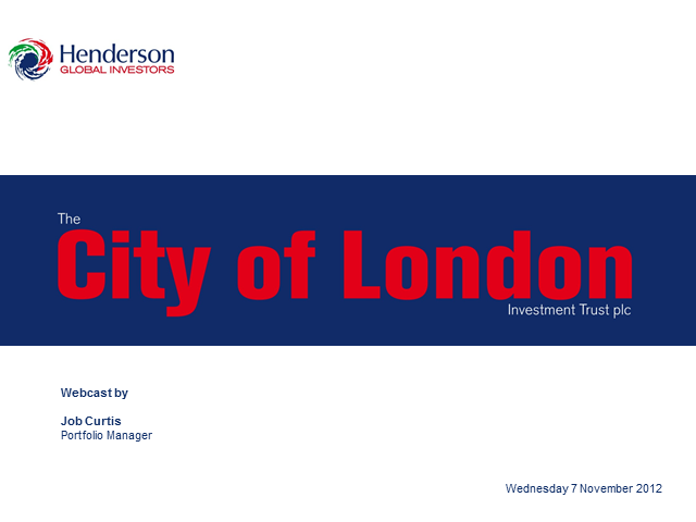 The City of London Investment Trust plc Webcast