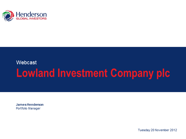 Lowland Investment Company plc Webcast