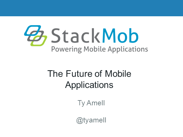 The Future of Mobile Applications