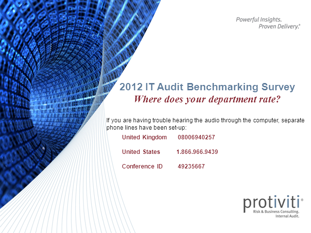 2012 IT Audit Benchmarking Survey - How does your department rate?