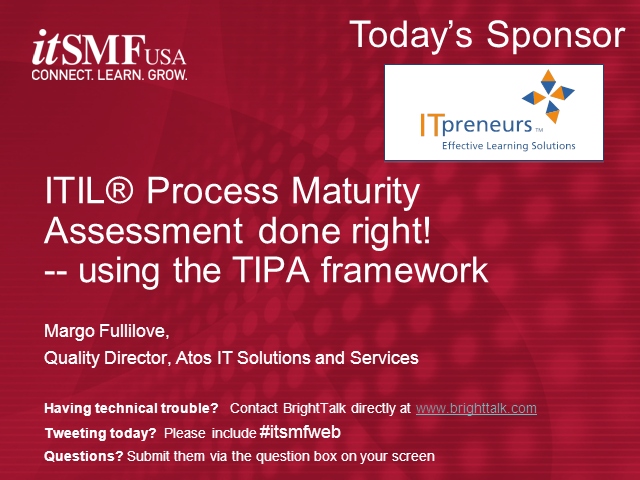ITIL® Process Maturity Assessments done right!