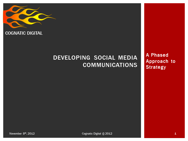 Developing Social Media Communications – A Phased Approach to Strategy