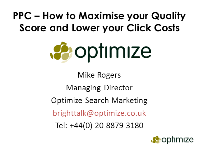How Your B2B Business Can Maximise Quality Score and Lower Click Costs using PPC