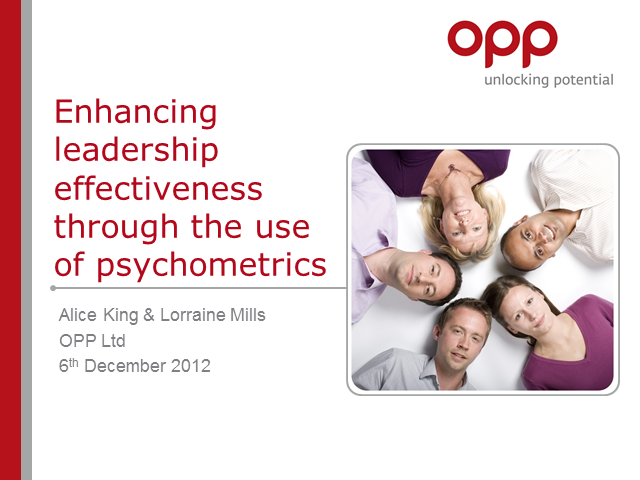 Enhancing leadership effectiveness through the use of psychometric tools